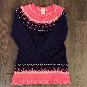 Euc Gymboree Fairisle Sweater Dress, Size 5T